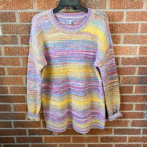 Aerie American Eagle Oversized Striped Sweater S